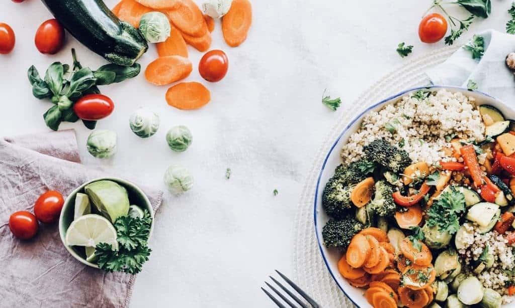 Iron-rich vegan lunch