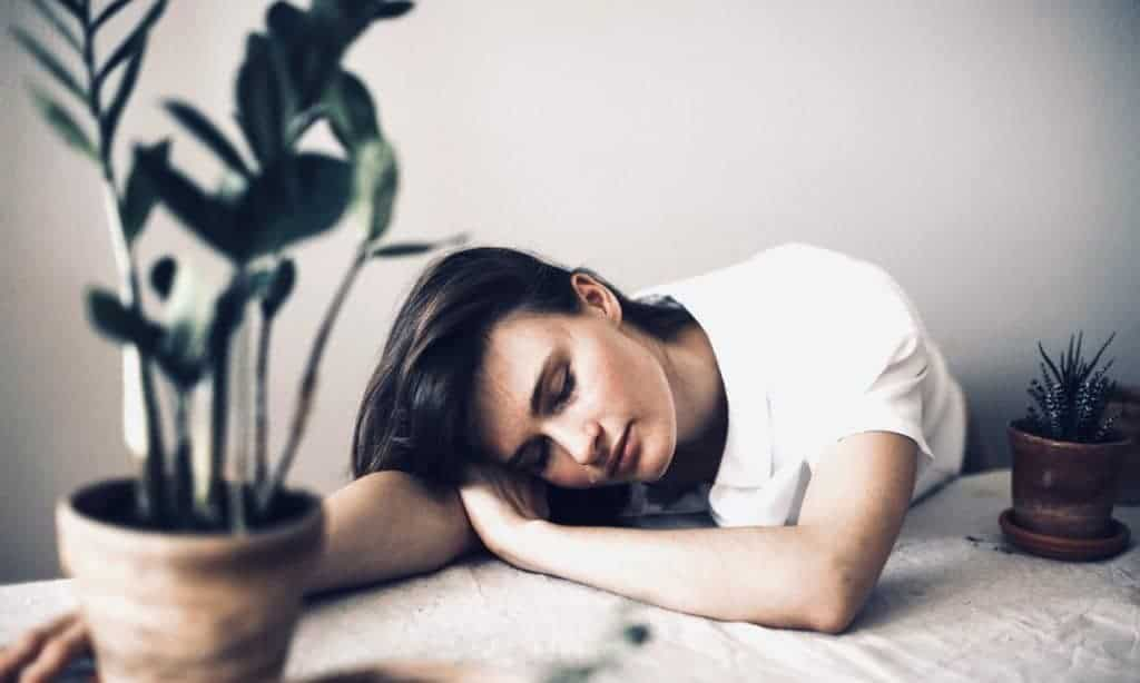 Vegan woman tired