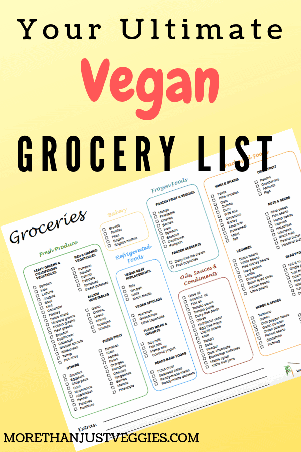 A vegan mom's ultimate grocery list