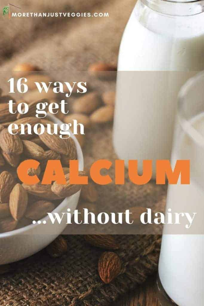 Dairy-free foods rich in calcium