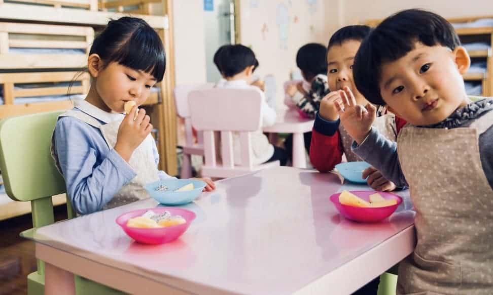 Children eating together