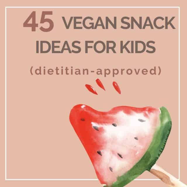 Vegan snack ideas for kids