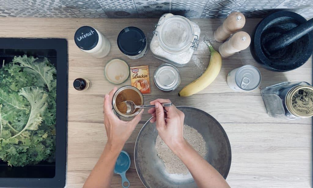 Vegan kale muffin recipe