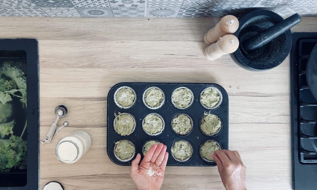 Vegan kale muffins
